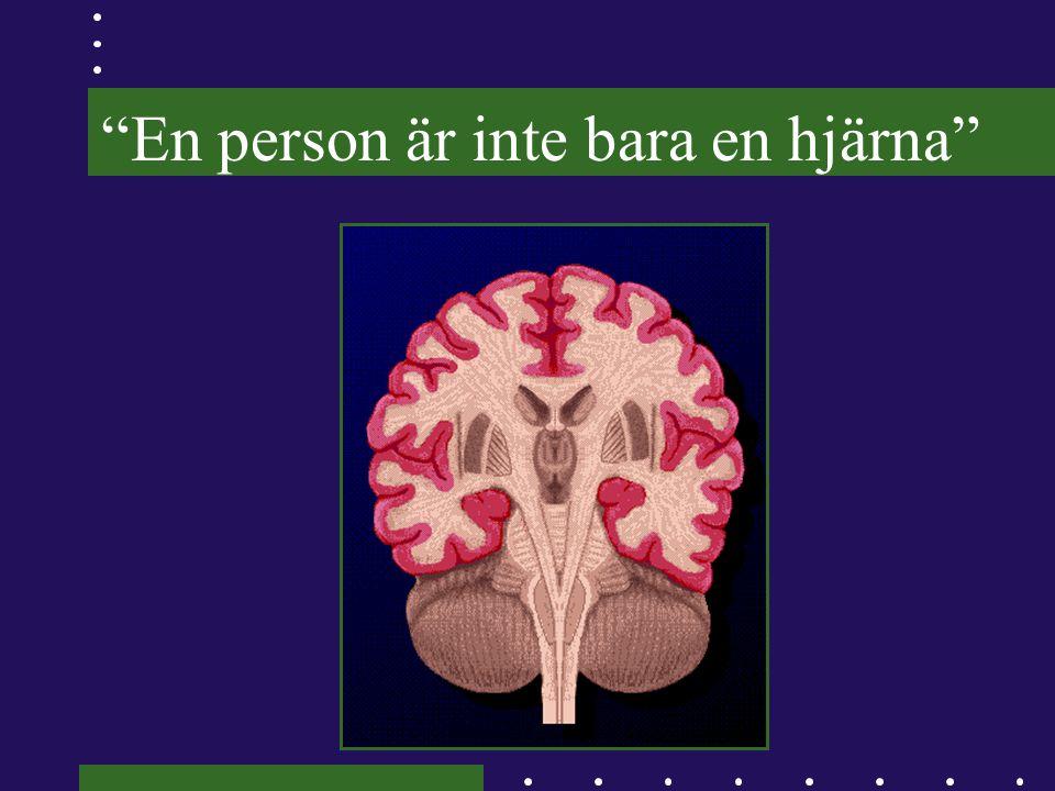 Stort tack till patienter, personal och anhöriga i de olika studierna samt Ingalill Rahm Hallberg Agneta Berg Göran Holst och till minne av Åsa Nordmark
