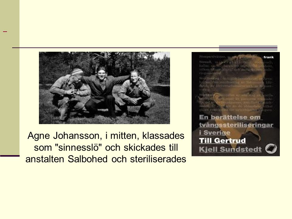 Agne Johansson, i mitten, klassades som