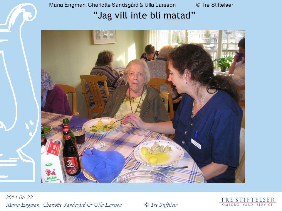 """2014-06-22 Maria Engman, Charlotte Sandsgård & Ulla Larsson © Tre Stiftelser """"Jag vill inte bli matad"""""""