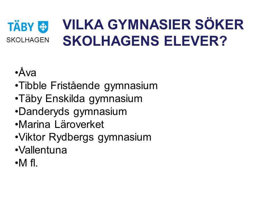 VILKA GYMNASIER SÖKER SKOLHAGENS ELEVER.