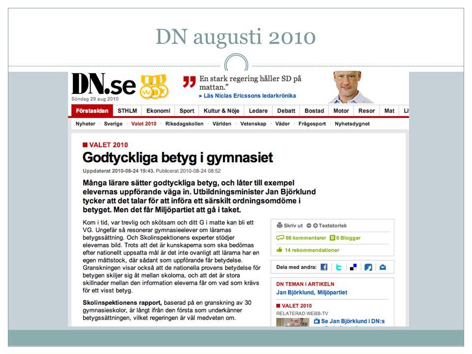 Svensk forskning • I många kurser saknas användning av betygskriterier.