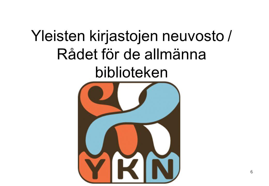 Yleisten kirjastojen neuvosto / Rådet för de allmänna biblioteken 6