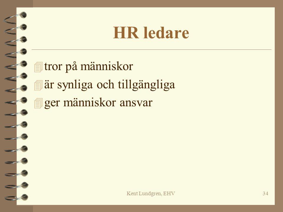 Kent Lundgren, EHV34 HR ledare 4 tror på människor 4 är synliga och tillgängliga 4 ger människor ansvar