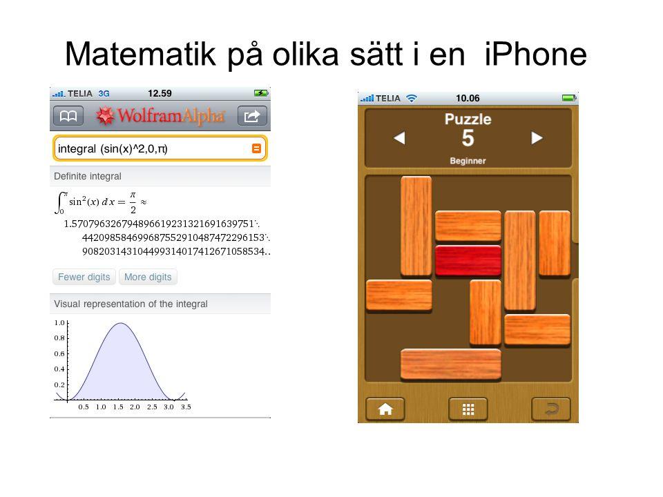 Matematik på olika sätt i en iPhone