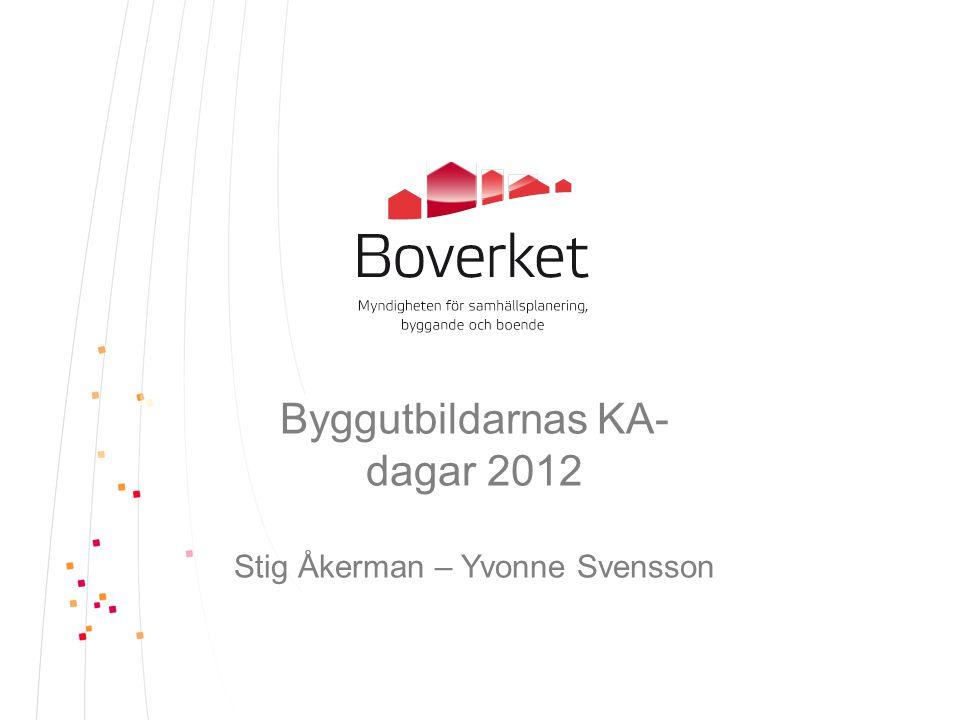 Byggutbildarnas KA- dagar 2012 Stig Åkerman – Yvonne Svensson