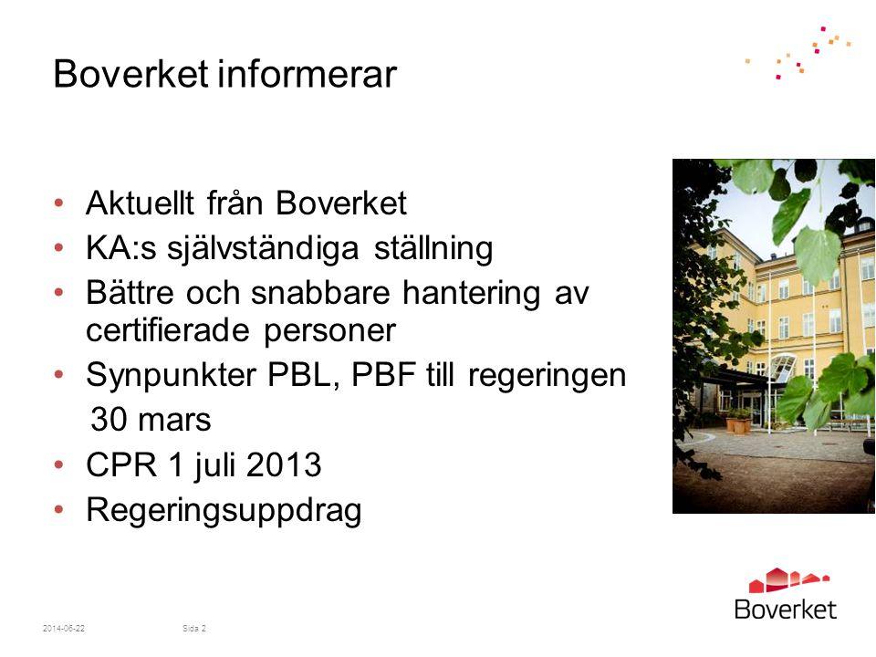 Ny organisation på Boverket 2014-06-22Sida 3