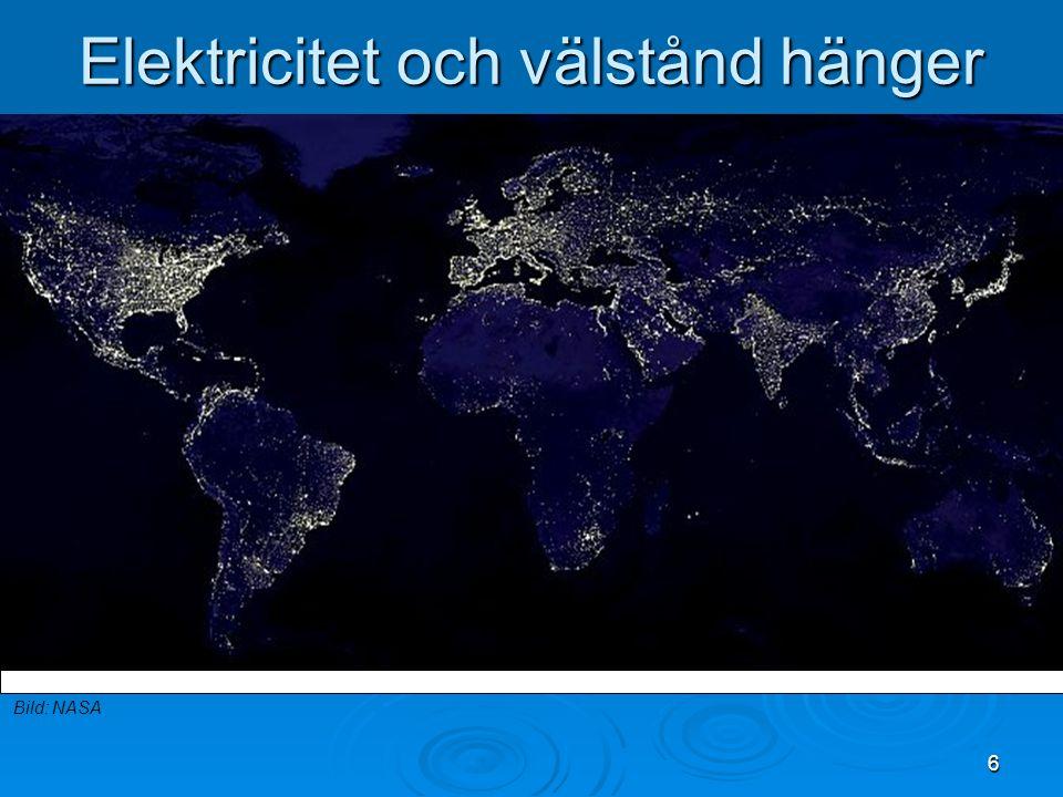 6 Elektricitet och välstånd hänger ihop Bild: NASA