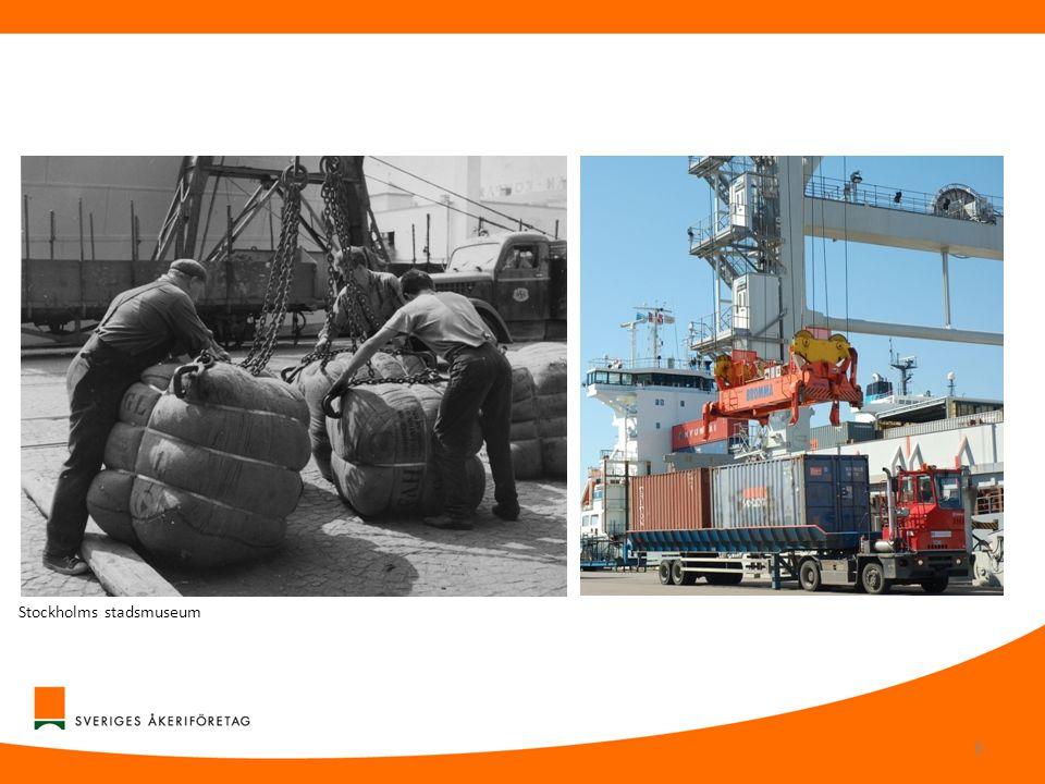 Lastbilstransporternas betydelse •Lastbilstransporter utför en stor del av det lokala transportarbetet, både inom orter och som en del i längre transportkedjor.