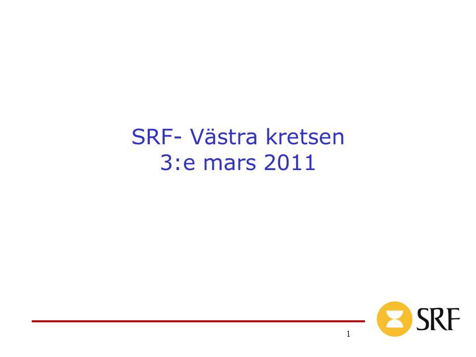 1 SRF- Västra kretsen 3:e mars 2011