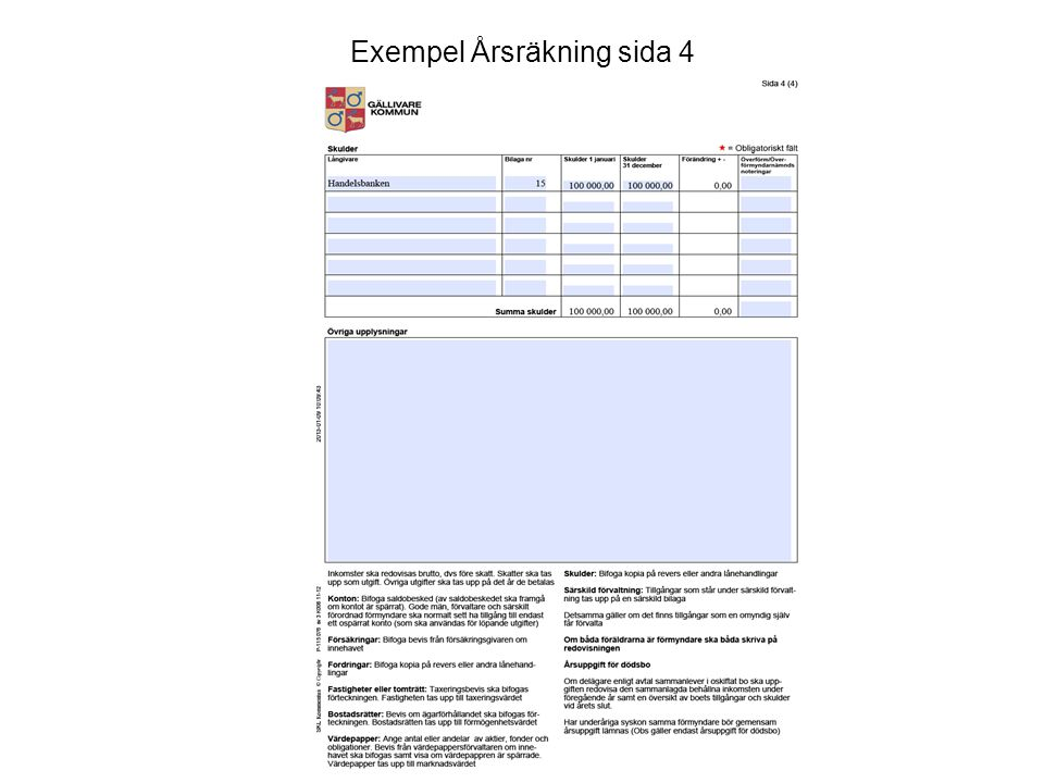 Exempel Årsräkning sida 4