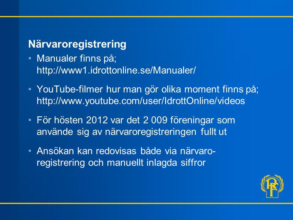 Inloggning •Sker på föreningens sida på IdrottOnline •Inloggningsuppgifterna är personliga •Glömt lösenordet?