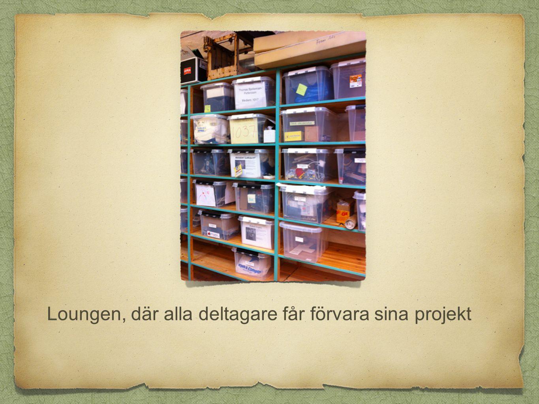 Loungen, där alla deltagare får förvara sina projekt