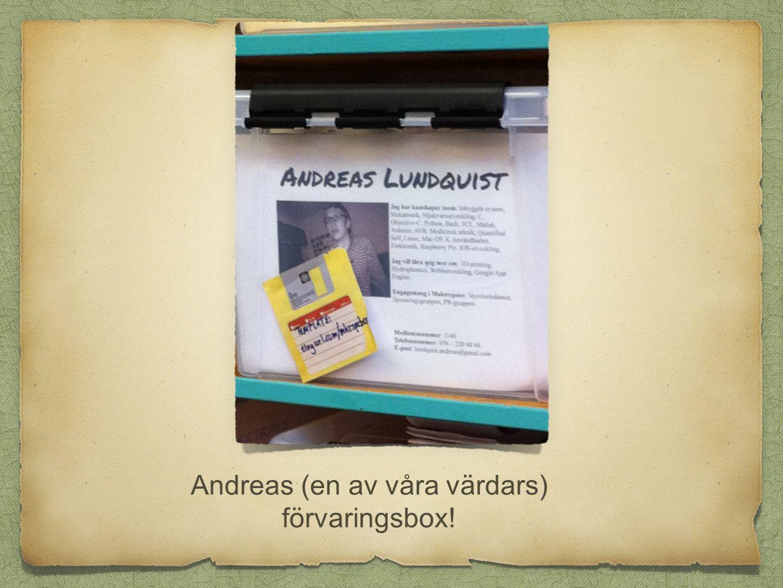 Andreas (en av våra värdars) förvaringsbox!