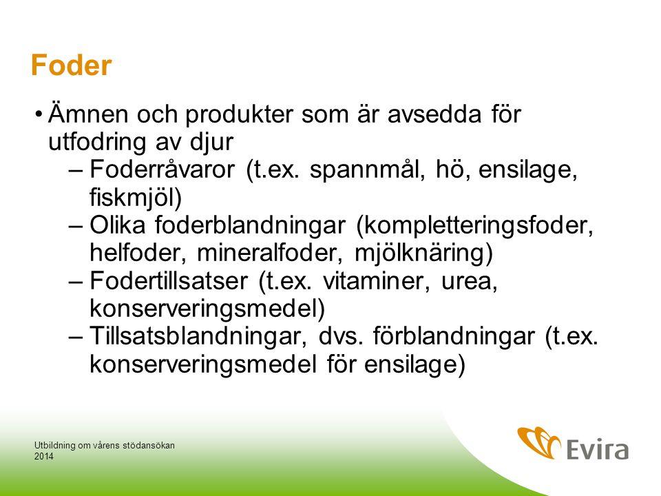 Foder •Ämnen och produkter som är avsedda för utfodring av djur –Foderråvaror (t.ex.