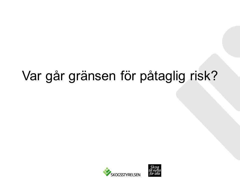 Var går gränsen för påtaglig risk?