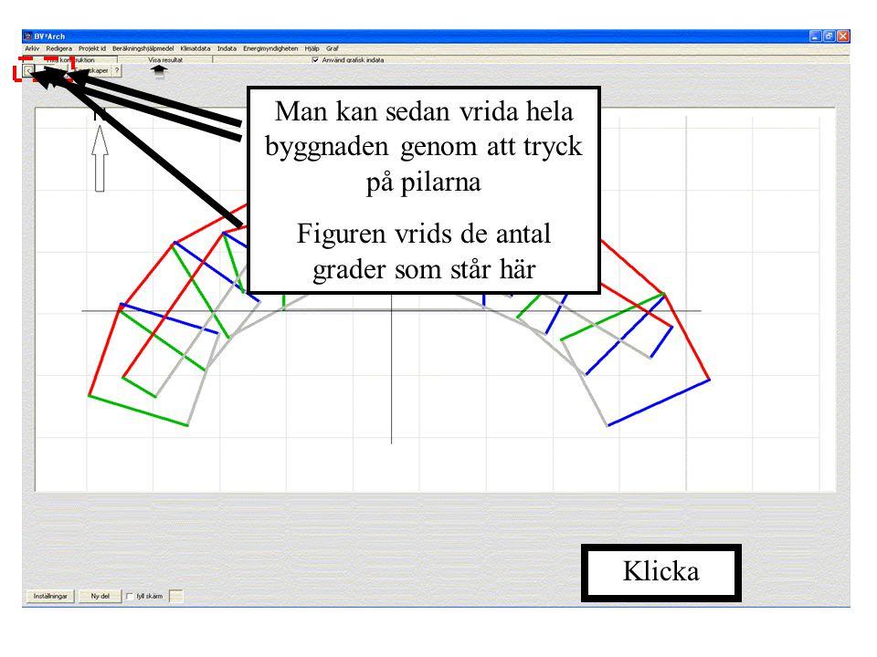 Genom att använda ett antal byggnadskroppar går det att efterlikna komplicerade former Här är ett exempel på detta En 3D-vy av denna blir så här Klick