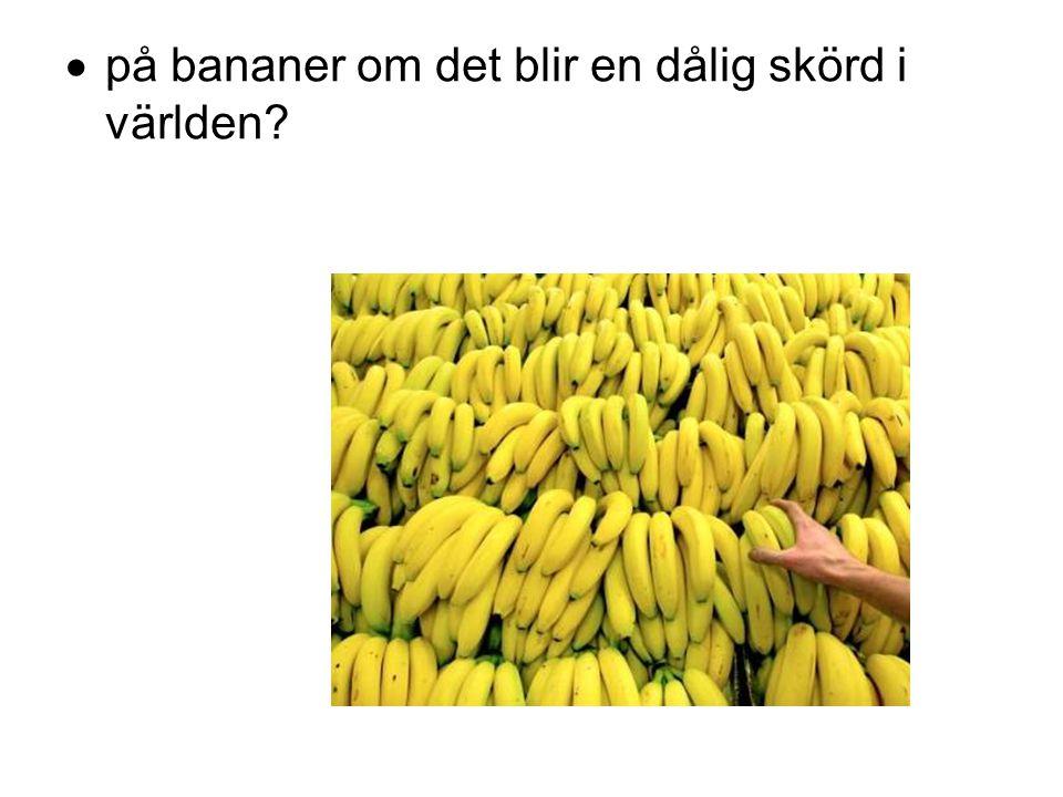  på bananer om det blir en dålig skörd i världen?