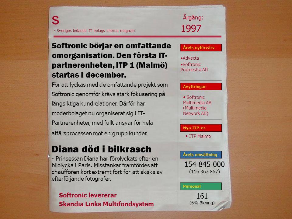 s Softronic börjar en omfattande omorganisation.