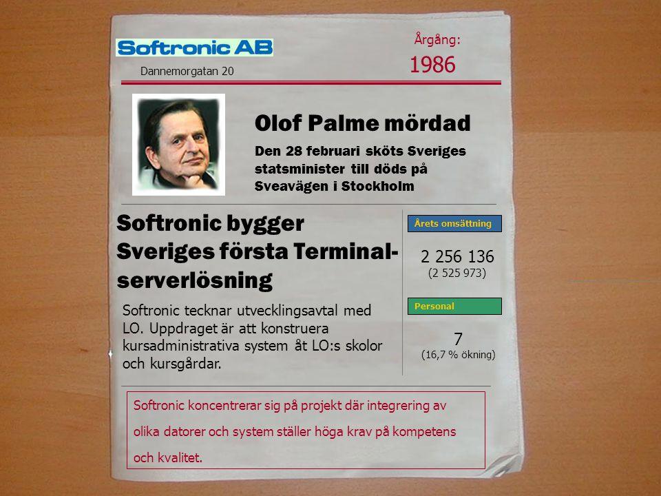 Softronic bygger Sveriges första Terminal- serverlösning Softronic koncentrerar sig på projekt där integrering av olika datorer och system ställer höga krav på kompetens och kvalitet.