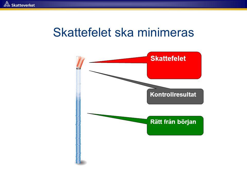 Särskilda inriktningar  Illegal hantering av alkohol och tobak  Svart arbetskraft i Sverige oavsett företagets hemvist  Falska kontrolluppgifter  Myndighetsgemensamma insatser