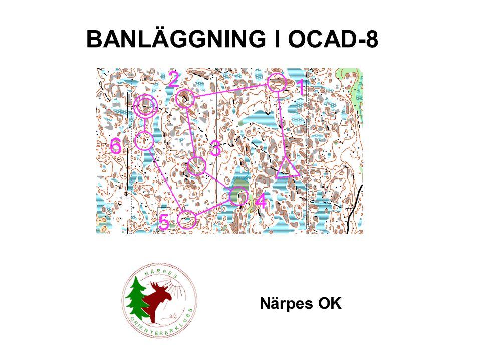 BANLÄGGNING I OCAD-8 Närpes OK