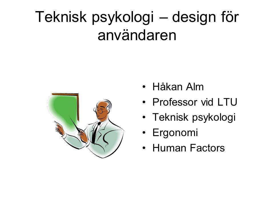 Teknisk psykologi.