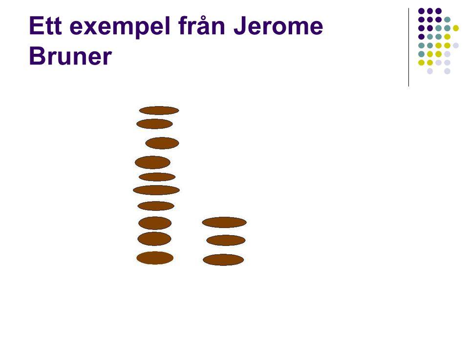 Ett exempel från Jerome Bruner