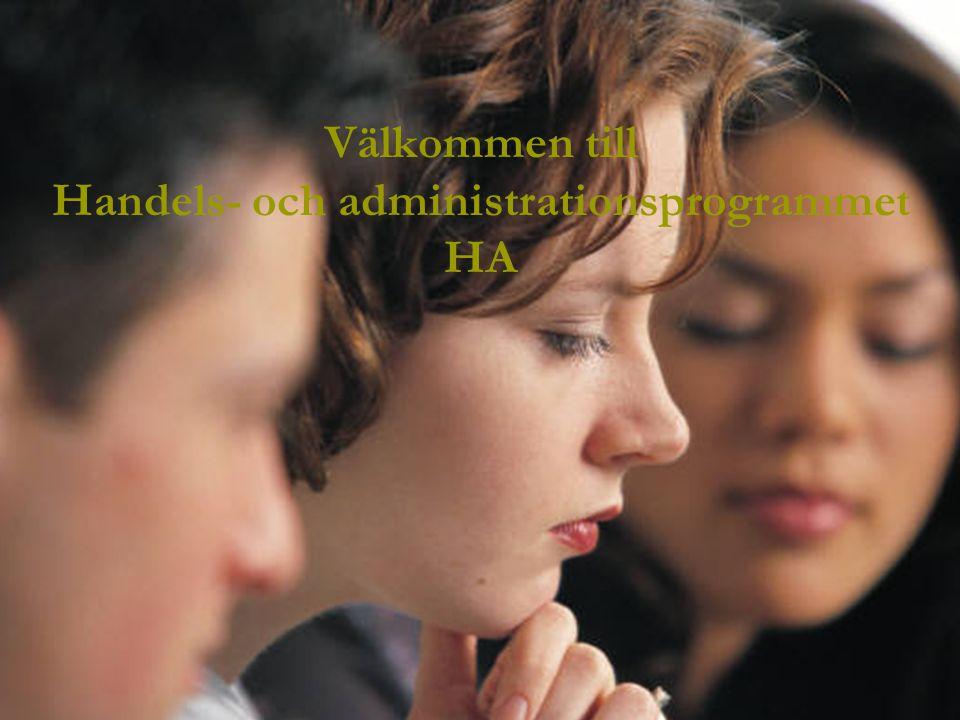 Välkommen till Handels- och administrationsprogrammet HA