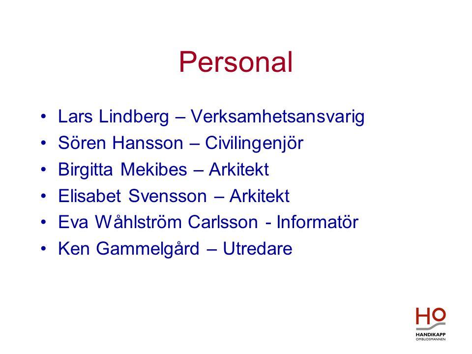 Personal •Lars Lindberg – Verksamhetsansvarig •Sören Hansson – Civilingenjör •Birgitta Mekibes – Arkitekt •Elisabet Svensson – Arkitekt •Eva Wåhlström