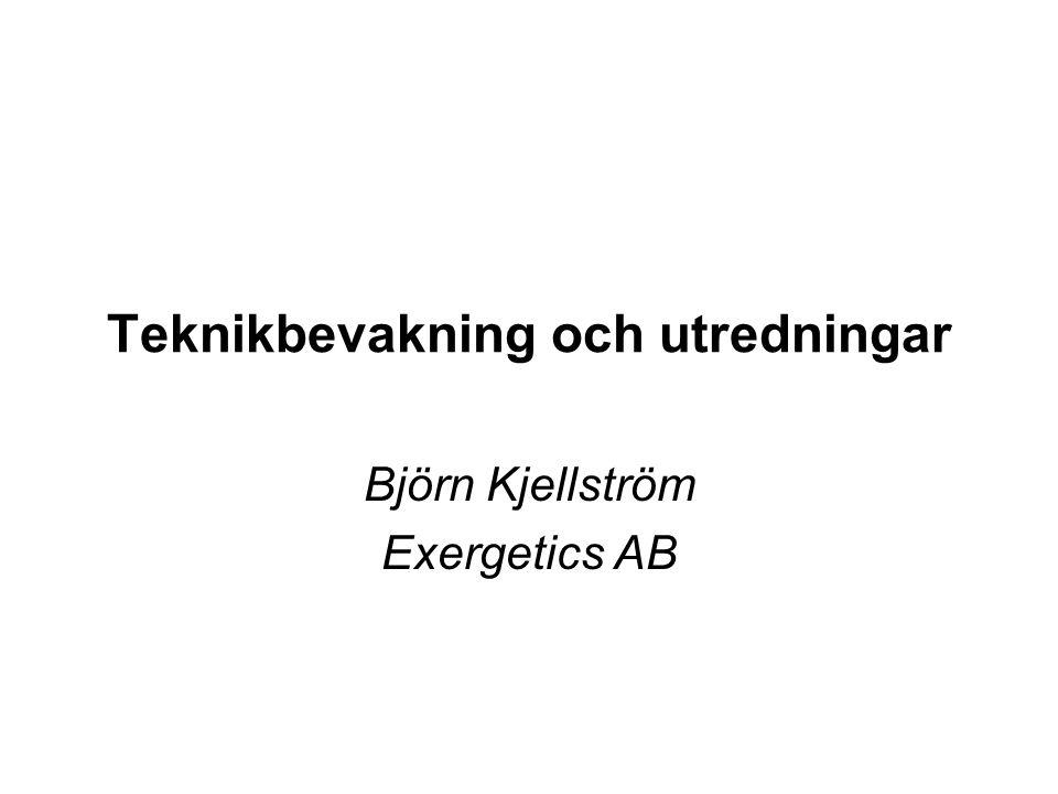 Teknikbevakning och utredningar Björn Kjellström Exergetics AB