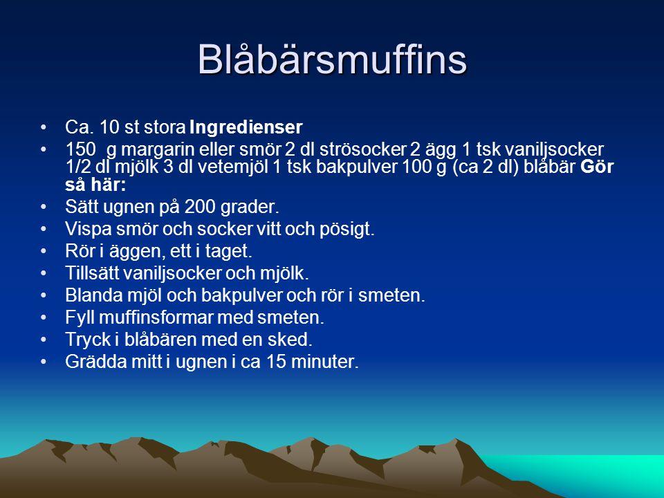 Blåbärsmuffins •Ca.