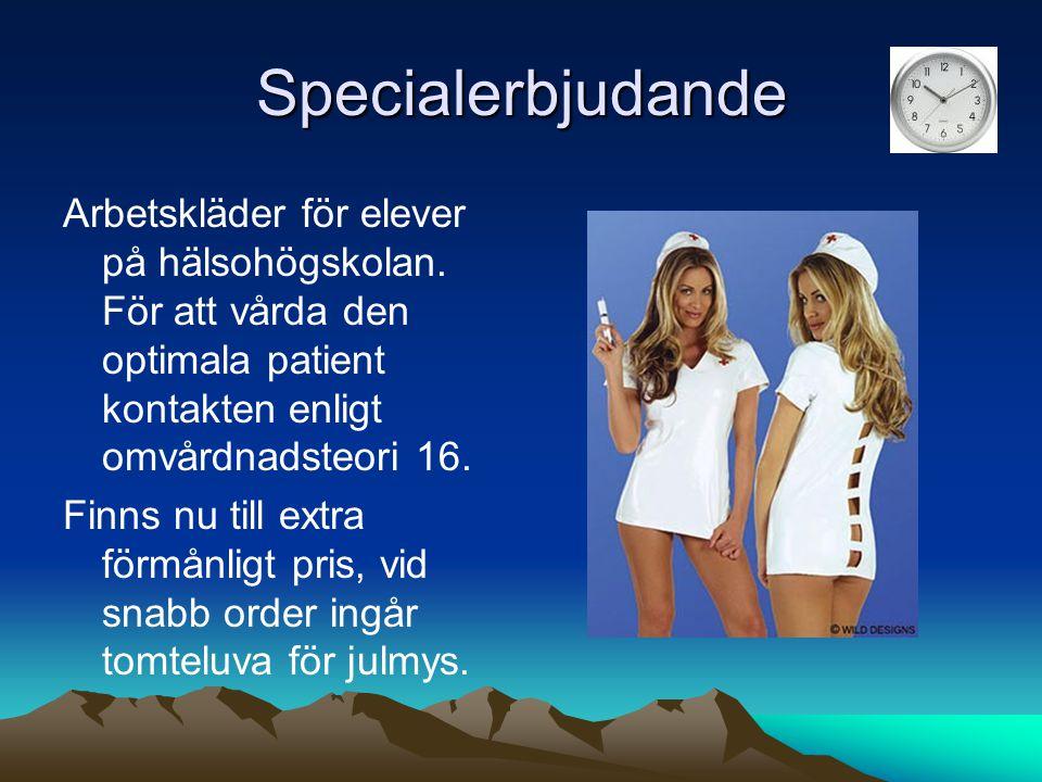 Specialerbjudande Arbetskläder för elever på hälsohögskolan.