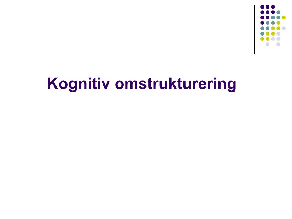 Kognitiv omstrukturering
