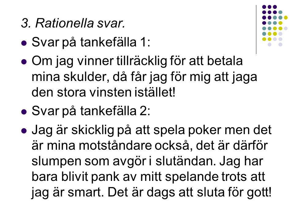 3.Rationella svar.