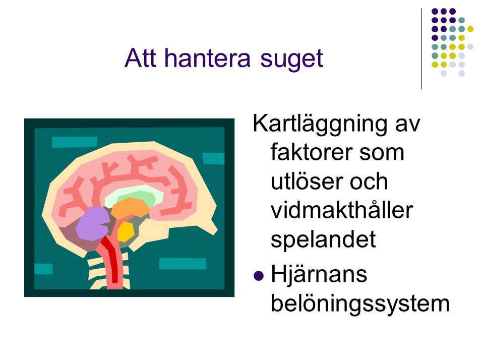  Kroppslig avslappning  Mental avslappning  Exponering med responsprevention (ERP) i fantasin för spelsuget  Övas som hemuppgift med hjälp av CD.