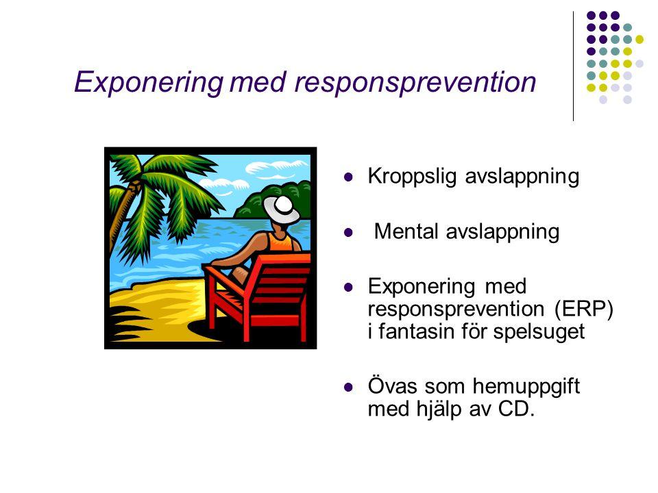 Att hantera suget  Stresshantering  Utsätta sig för suget och lära sig bemästra det - surfa över sugvågen  Skapar nya motorvägar i hjärnan för en ny respons, på sikt automatiseras den  Läkemedelsstöd (T Revia)