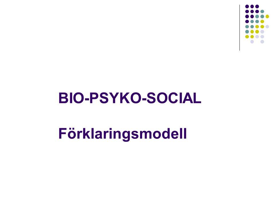 BIO-PSYKO-SOCIAL Förklaringsmodell