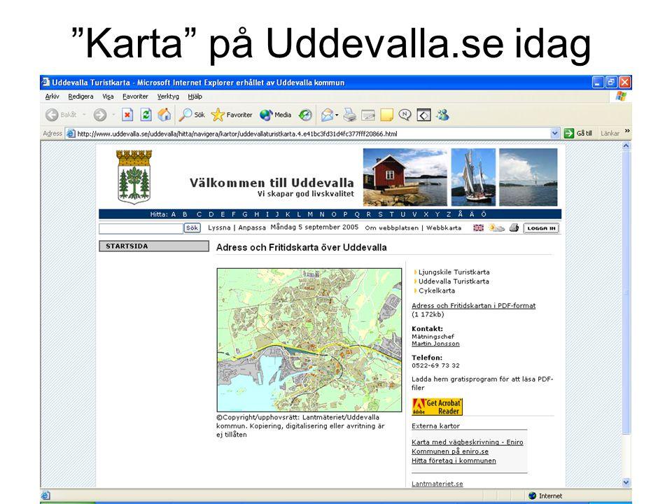 """""""Karta"""" på Uddevalla.se idag"""