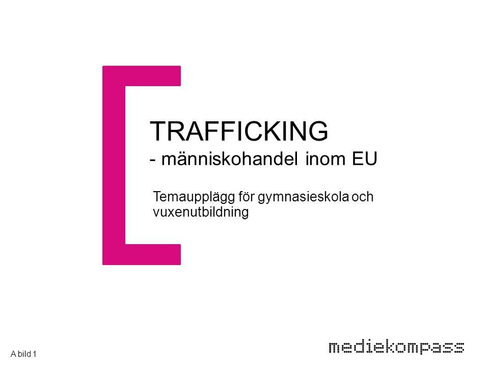 TRAFFICKING - människohandel inom EU Temaupplägg för gymnasieskola och vuxenutbildning A bild 1