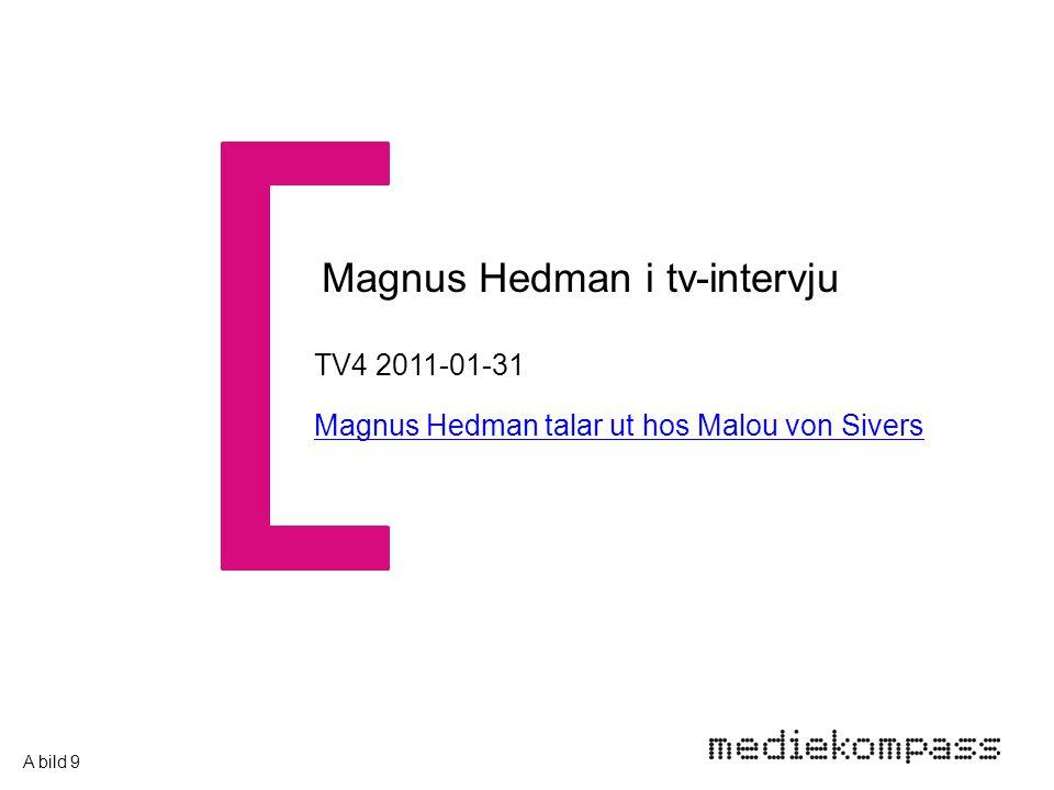 TV4 2011-01-31 Magnus Hedman talar ut hos Malou von Sivers Magnus Hedman i tv-intervju A bild 9