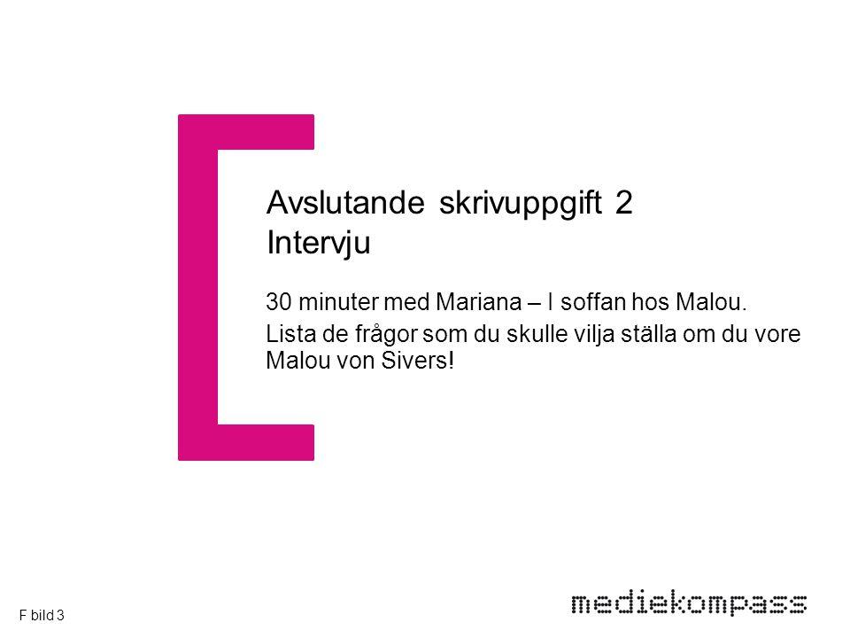 30 minuter med Mariana – I soffan hos Malou.