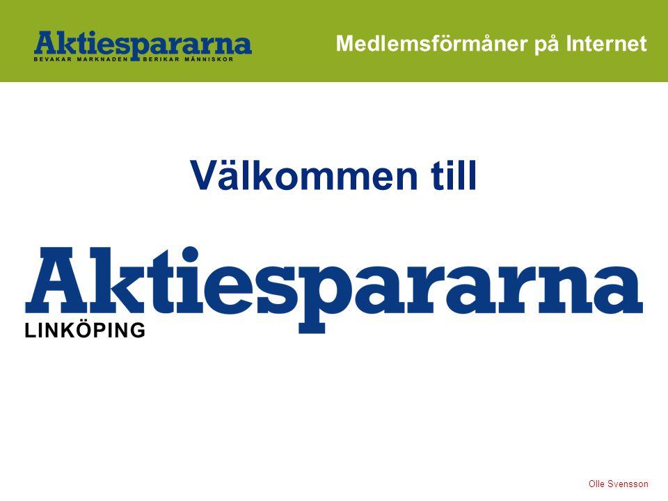 Välkommen till Olle Svensson Medlemsförmåner på Internet