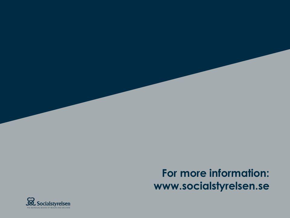 Att visa fotnot, datum, sidnummer Klicka på fliken Infoga och klicka på ikonen sidhuvud/sidfot Klistra in text: Klistra in texten, klicka på ikonen (Ctrl), välj Behåll endast text Rubrik: Century Gothic, bold 26pt For more information: www.socialstyrelsen.se
