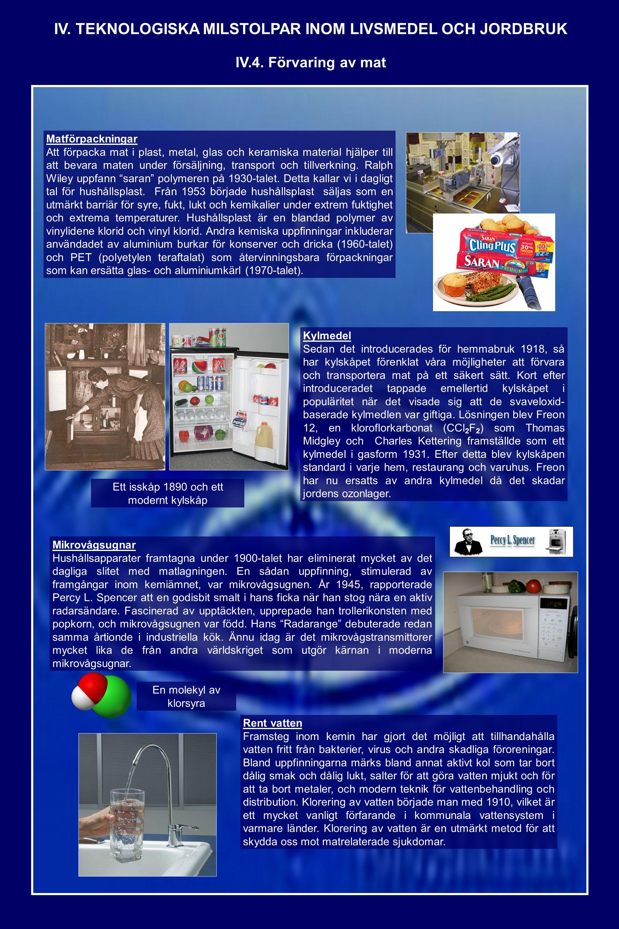 Matförpackningar Att förpacka mat i plast, metal, glas och keramiska material hjälper till att bevara maten under försäljning, transport och tillverkning.