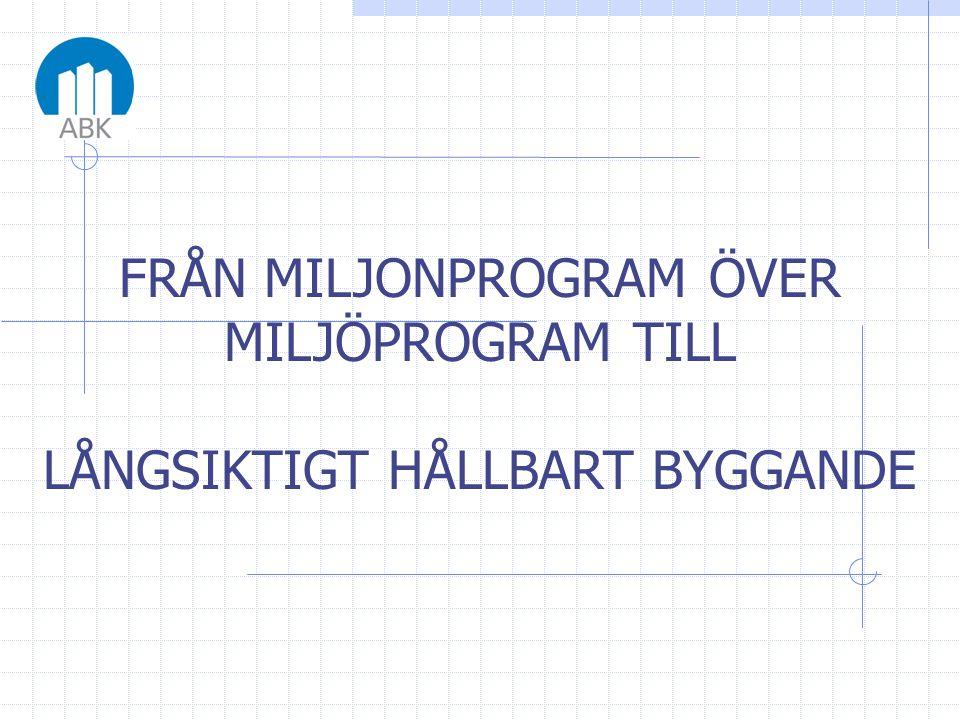 •Stockholmsutställningen 1930, funktionalismens genombrott •80% av alla lägenheter, 2 R o K eller mindre •1/3 saknade vatten och avlopp.