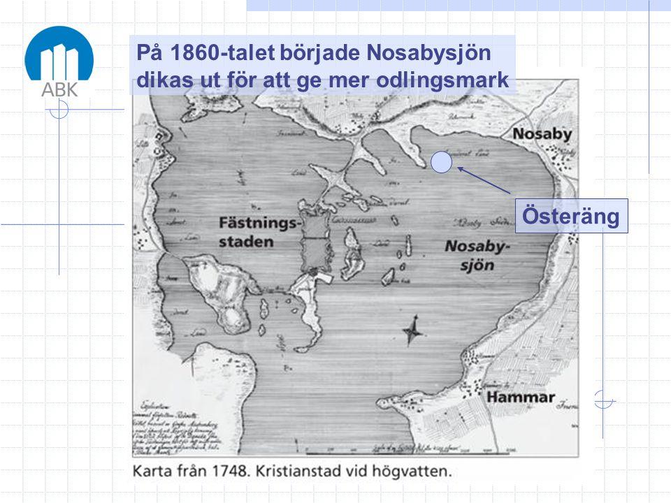 På 1860-talet började Nosabysjön dikas ut för att ge mer odlingsmark Österäng