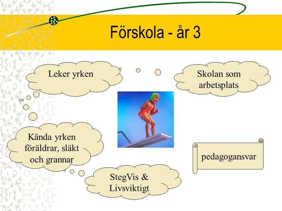 År 4 - 6 Pedagog, SYV elevansvar Livsviktigt En-två dagars PRAO Lokalt näringsliv Genus perspektiv Språkval Att lära sig välja