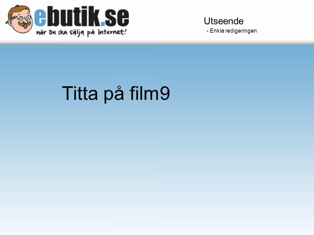 Utseende - Enkla redigeringen Titta på film9