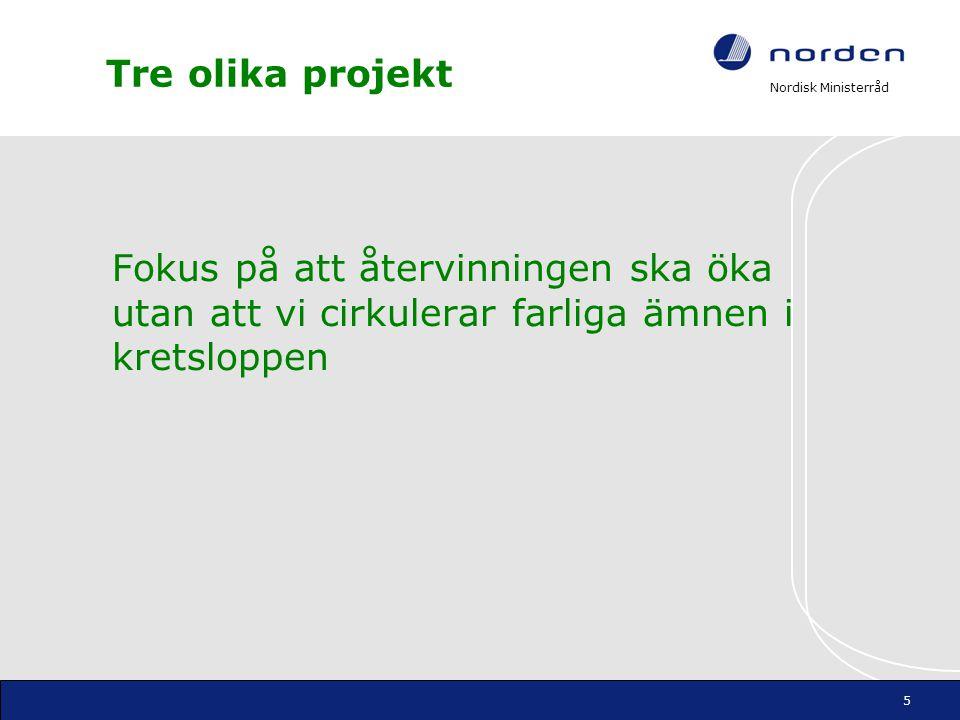 Nordisk Ministerråd Projekt 1.