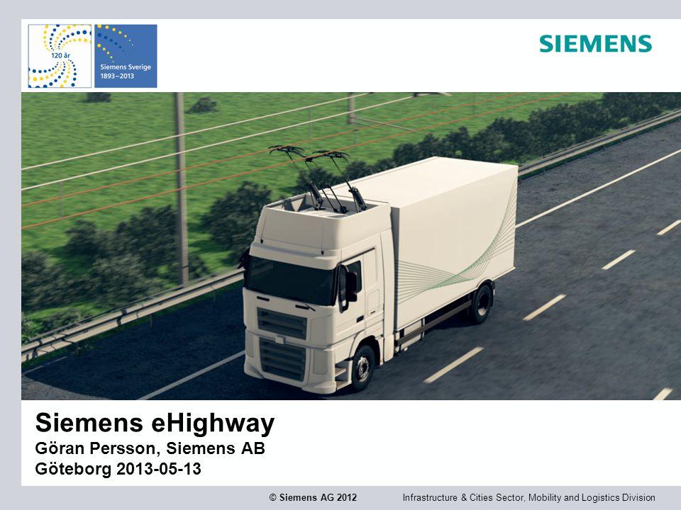Infrastructure & Cities Sector, Mobility and Logistics DivisionPage 2 © Siemens AG 2012 Vår affärer bygger på fyra megatrender  Klimatförändring  Demografi  Globalisering  Urbanisering Pendlare i Jakarta